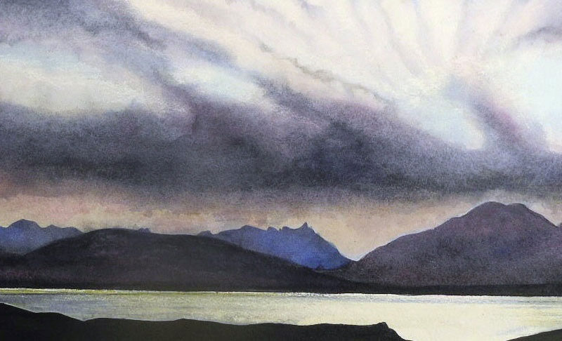 Evening-light-on-the-Cuillins-from-Sleat
